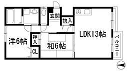 グランソレイユA棟[3階]の間取り