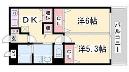 リボーン島田[4階]の間取り