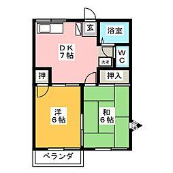 アメニティーハウスB[2階]の間取り