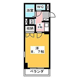 エルム元城[2階]の間取り