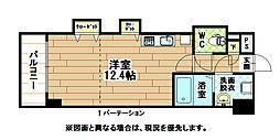 福岡県北九州市小倉北区竪町1の賃貸マンションの間取り