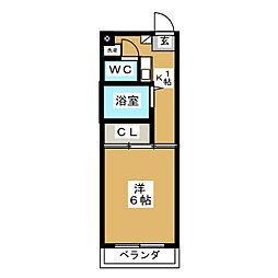 大島マンション大谷[3階]の間取り