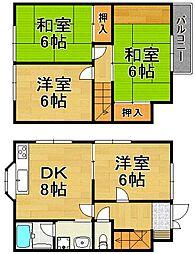[一戸建] 兵庫県川西市西畦野2丁目 の賃貸【/】の間取り