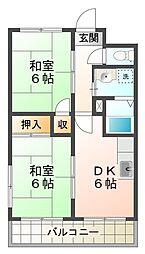 兵庫県神戸市垂水区瑞ケ丘の賃貸アパートの間取り