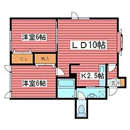 ASガーデン[2階]の間取り