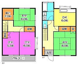 [テラスハウス] 東京都東大和市中央1丁目 の賃貸【/】の間取り