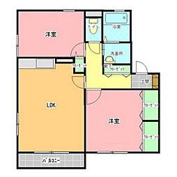 セレニティグレイスE棟[1階]の間取り
