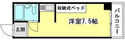 広島県広島市中区土橋町の賃貸マンションの間取り