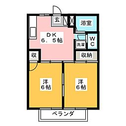 シティーハイツYA[1階]の間取り