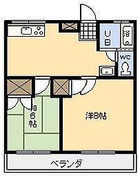 落合ビル2[203号室]の間取り