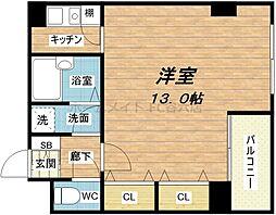 アメニティ南久宝寺[4階]の間取り