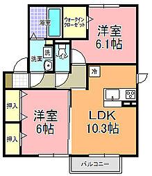 仮)D−room寄井 K[201号室]の間取り