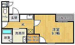 フジパレス宝塚南I番館[1階]の間取り