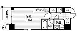 アーデン京町堀ウエスト[8階]の間取り