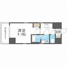 サムティ福島Rufle(ルフレ) 6階1Kの間取り