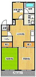 コーワコーポ[5階]の間取り