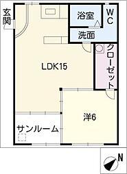 ファミール井ヶ谷A棟[3階]の間取り