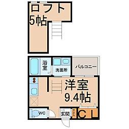 愛知県名古屋市中川区篠原橋通2丁目の賃貸アパートの間取り