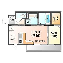仮)D−room京町[101号室]の間取り