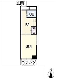 ハイツ浅井[3階]の間取り