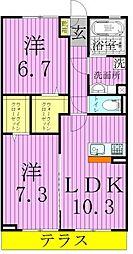 パークハイムMSK2[2階]の間取り