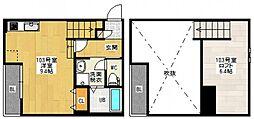 Maisonetic 舟入本町[1階]の間取り