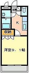 埼玉県東松山市山崎町の賃貸マンションの間取り
