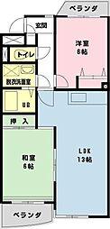 JR京葉線 舞浜駅 徒歩12分の賃貸マンション 1階2LDKの間取り