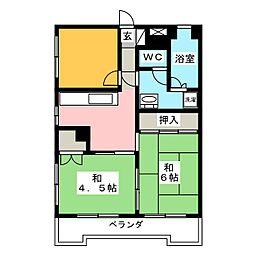 丸宗ビル[4階]の間取り