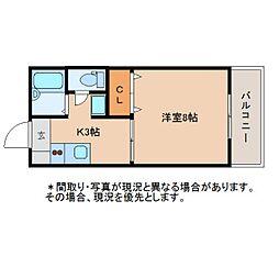 静岡県静岡市駿河区みずほの賃貸アパートの間取り