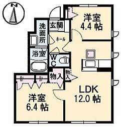 シャーメゾン南吉田A・B棟[2101 号室号室]の間取り