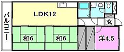 グリーンハイツ北井門[603 号室号室]の間取り