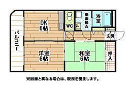 福岡県北九州市小倉北区霧ケ丘1丁目の賃貸マンションの間取り