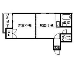 ジュマ宮の森B棟[00103号室]の間取り