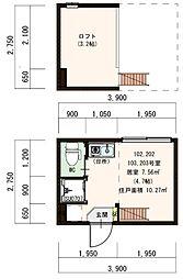 (仮称)豊島デザイナーズ賃貸コーポ[103号室]の間取り