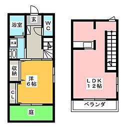 寺東1290 南棟[1階]の間取り
