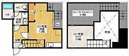 広島県広島市南区宇品西2丁目の賃貸アパートの間取り