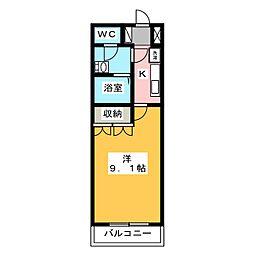 ハッピーオウル[2階]の間取り