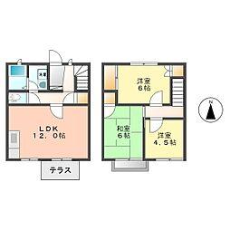 愛知県名古屋市西区比良2丁目の賃貸アパートの間取り