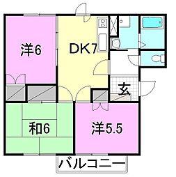 シティハイツ名田III[105 号室号室]の間取り
