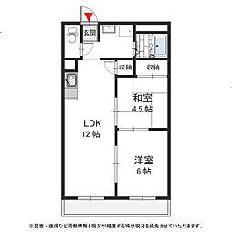 高井田ランプハウス[311号室号室]の間取り