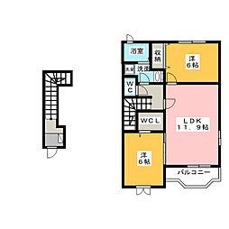 ブリーズガーデン[2階]の間取り