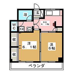 長盛堂ビル[3階]の間取り