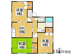 [一戸建] 福岡県八女市岩崎 の賃貸【/】の間取り