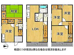 大阪市城東区関目3丁目 中古一戸建て 5LDKの間取り