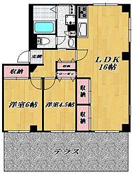 キャムグレース[102号室号室]の間取り