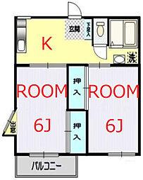 神奈川県横浜市神奈川区西寺尾3丁目の賃貸アパートの間取り