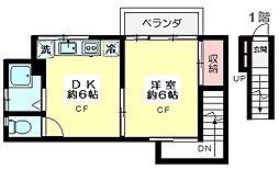 東京都杉並区清水3丁目の賃貸アパートの間取り