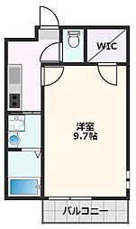 フジパレス吹田寿町V番館 3階1Kの間取り