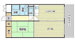 青山NKマンション[306号室]の間取り